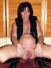 Exciting cougar is playing herself